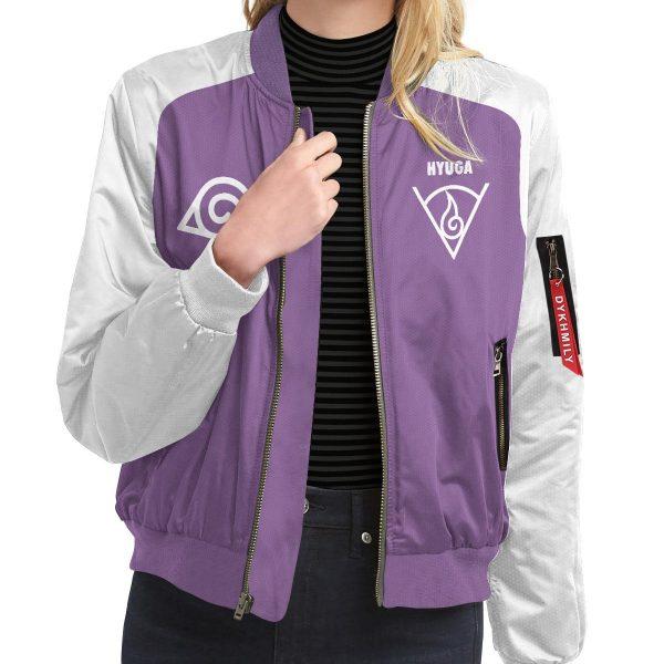 BomberJacketIHyugaClan 09 girlmodelfront - Anime Jacket
