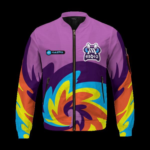 BomberJacketIPokemonPsychicUniform 01 front - Anime Jacket