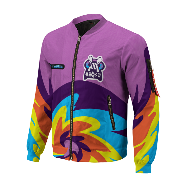 BomberJacketIPokemonPsychicUniform 02 hpleft - Anime Jacket