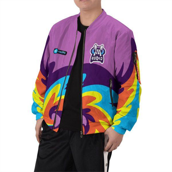 BomberJacketIPokemonPsychicUniform 07 boymodelfront - Anime Jacket