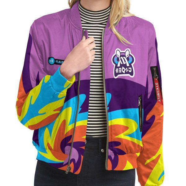 BomberJacketIPokemonPsychicUniform 09 girlmodelfront - Anime Jacket
