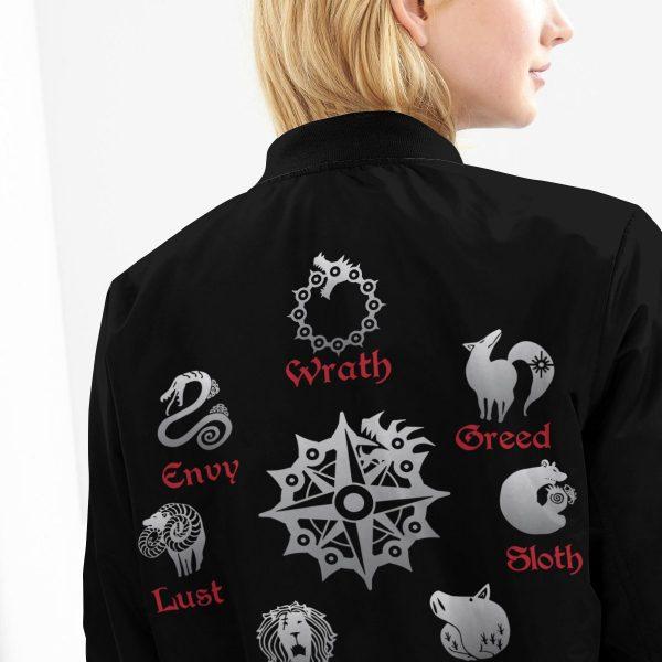BomberJacketISevenDeadlySins 10 girlmodelback - Anime Jacket