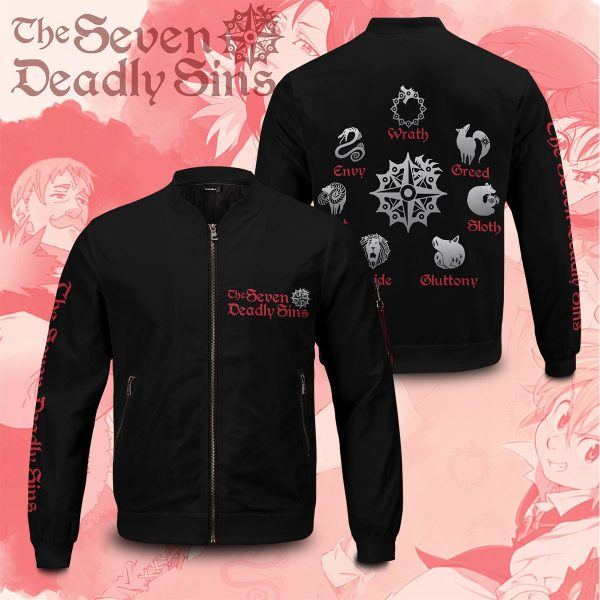 BomberJacketISevenDeadlySins webad 2sides - Anime Jacket