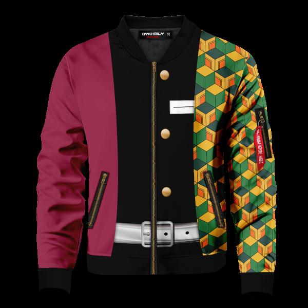 Bomber Jacket I Giyu Tomioka Front - Anime Jacket