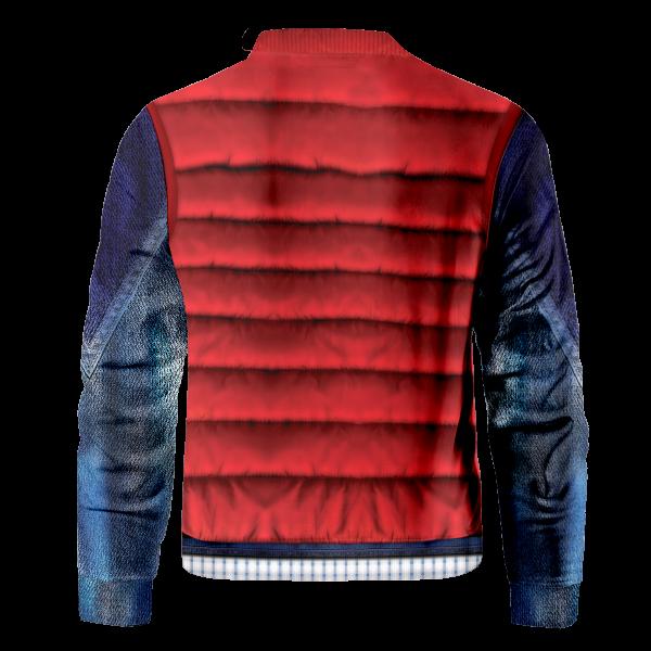 Bomber Jacket I Marty Mcfly Cel Shaded back - Anime Jacket