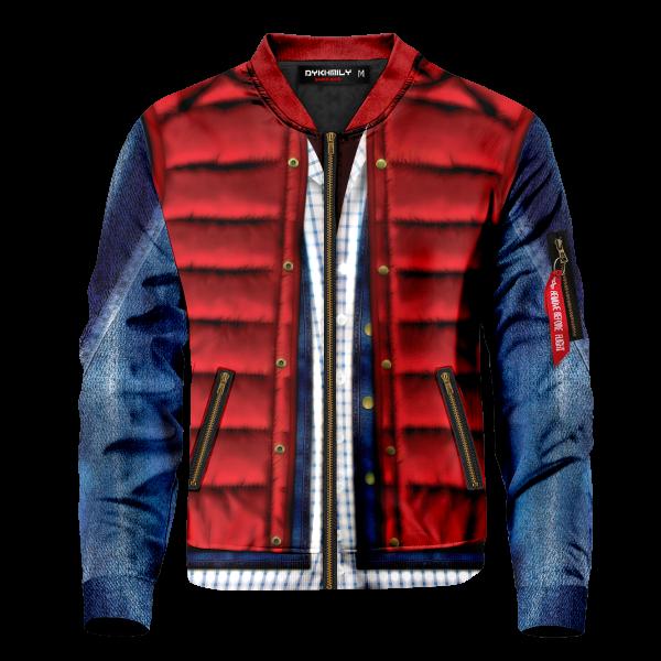 Bomber Jacket I Marty Mcfly Cel Shaded front - Anime Jacket