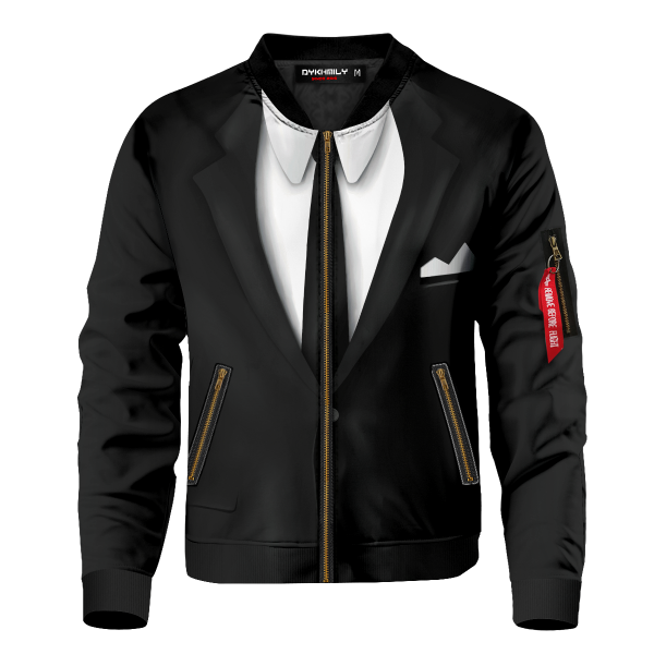 Bomber Jacket I Men in Black Suit front b0ebff7c be62 468a 9ae4 b63906cdd70b - Anime Jacket