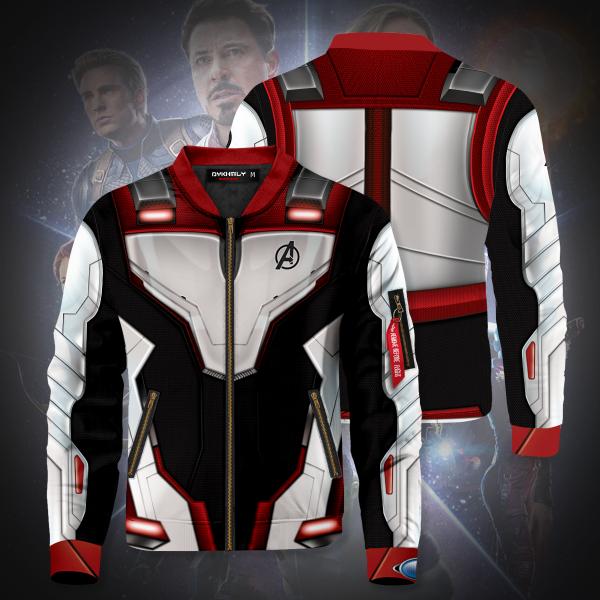 Bomber Jacket I Quantum Suit Web Ad 2 sides - Anime Jacket