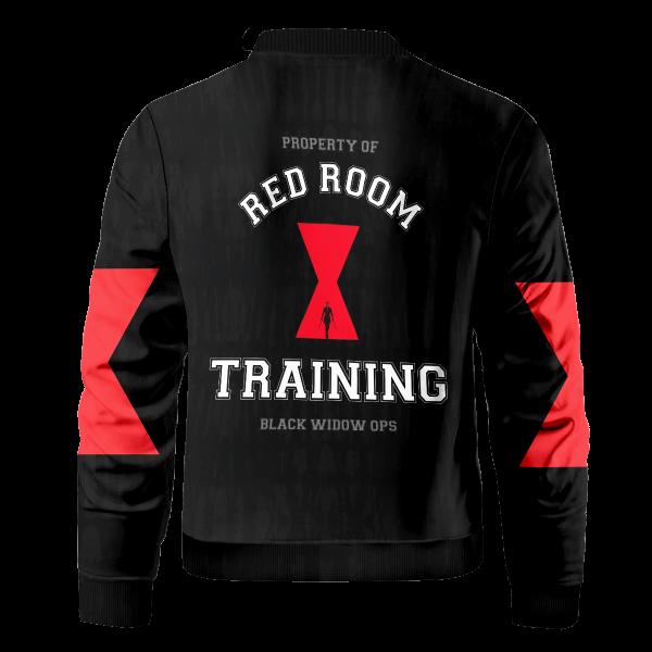 Bomber Jacket I Red Room Training back - Anime Jacket