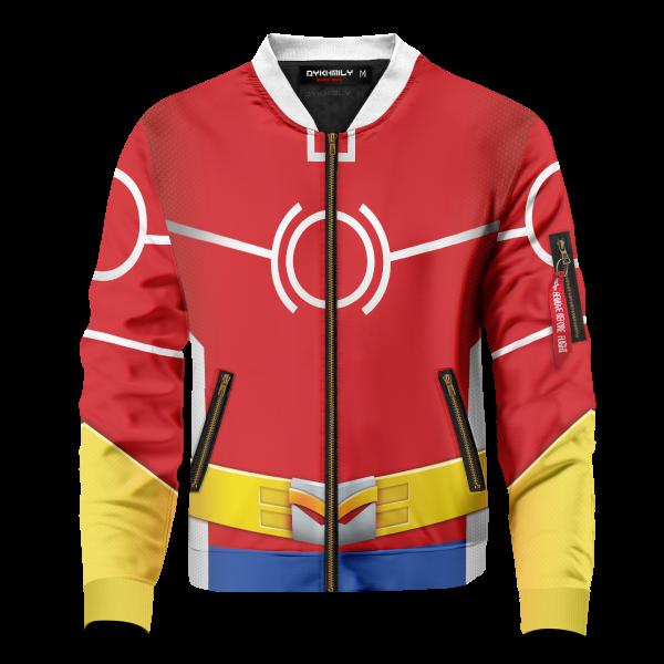 Bomber Jacket I Toshinori Yagi Silver Age front - Anime Jacket