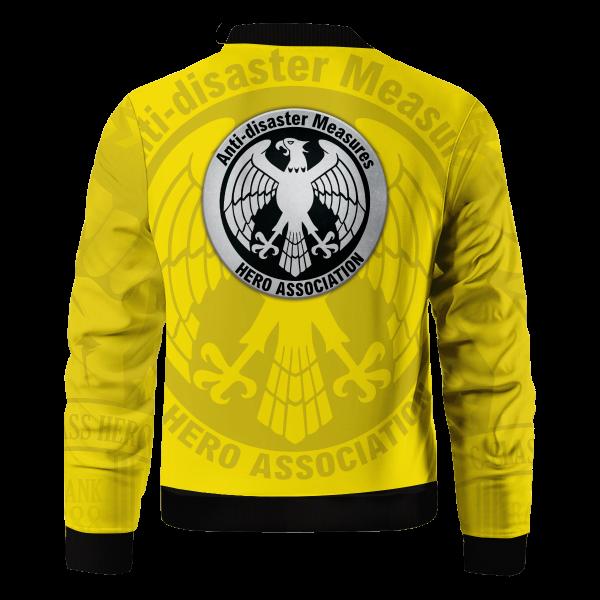Bomber Jacket l Hero Assosciation back 58165366 2edd 46c0 b0b6 15cd6e26de78 - Anime Jacket