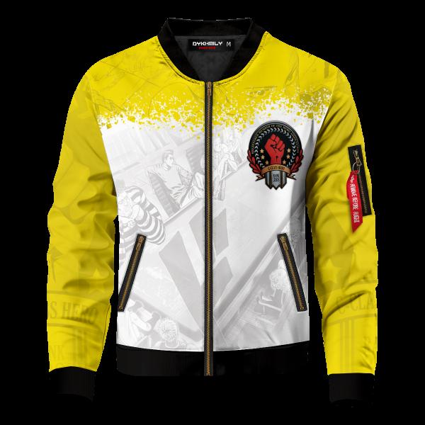 Bomber Jacket l Hero Assosciation front ca396404 d79b 4d66 9253 f1f9d0a9b2f4 - Anime Jacket