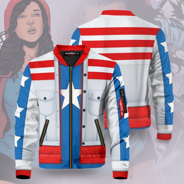america chavez bomber jacket 522348 - Anime Jacket