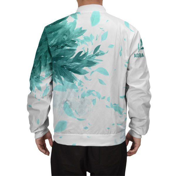 aoba johsai green leaf bomber jacket 105907 - Anime Jacket