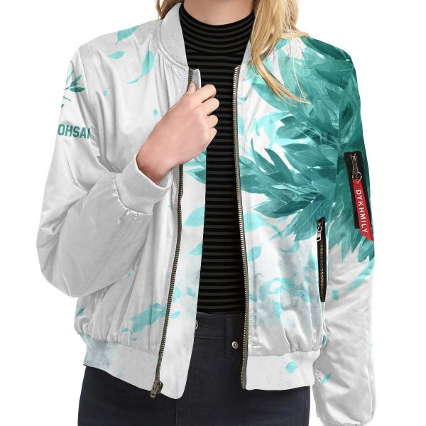 aoba johsai green leaf bomber jacket 165054 - Anime Jacket