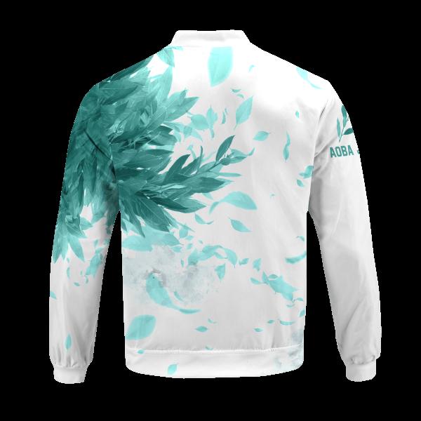 aoba johsai green leaf bomber jacket 228902 - Anime Jacket