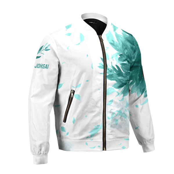 aoba johsai green leaf bomber jacket 829929 - Anime Jacket