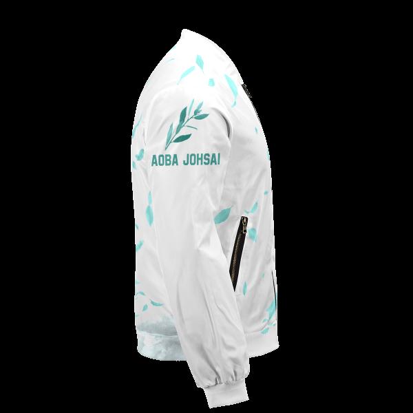 aoba johsai green leaf bomber jacket 837844 - Anime Jacket