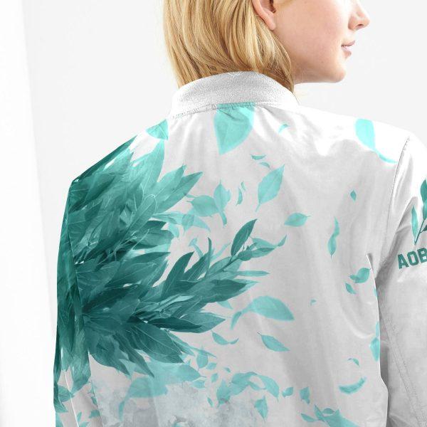 aoba johsai green leaf bomber jacket 912322 - Anime Jacket