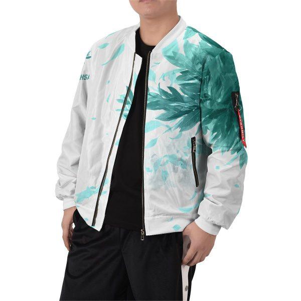 aoba johsai green leaf bomber jacket 986356 - Anime Jacket