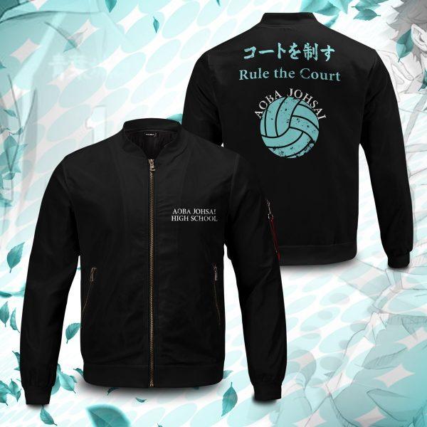 aoba johsai rally bomber jacket 239829 - Anime Jacket