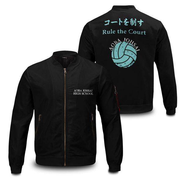 aoba johsai rally bomber jacket 389772 - Anime Jacket