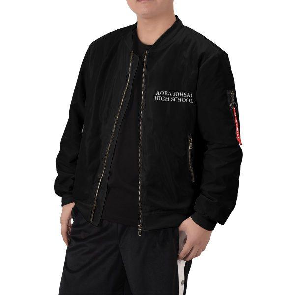 aoba johsai rally bomber jacket 571049 - Anime Jacket