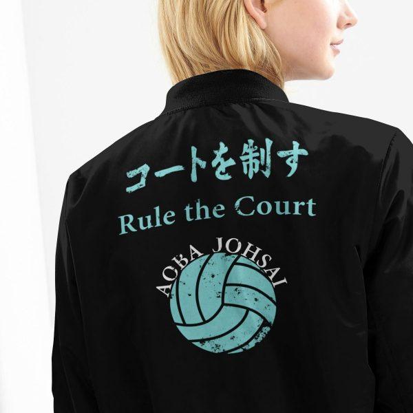 aoba johsai rally bomber jacket 869664 - Anime Jacket