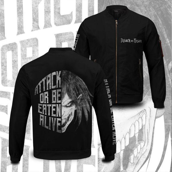 attack or be eaten alive bomber jacket 261757 - Anime Jacket
