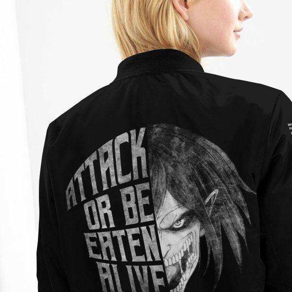 attack or be eaten alive bomber jacket 428810 - Anime Jacket