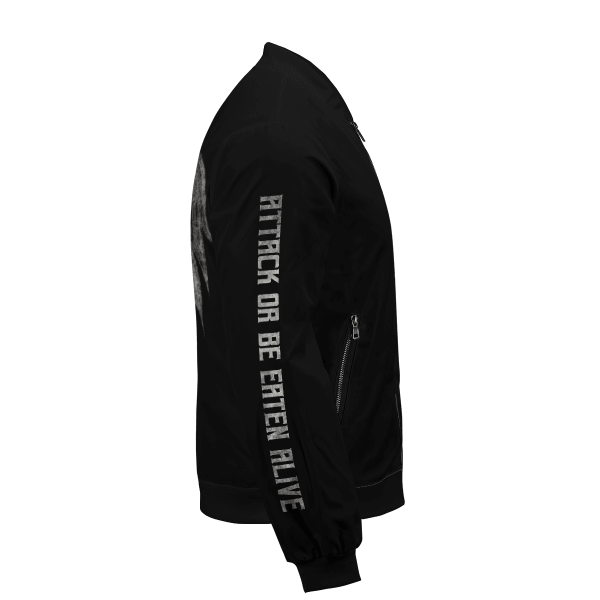 attack or be eaten alive bomber jacket 910595 - Anime Jacket