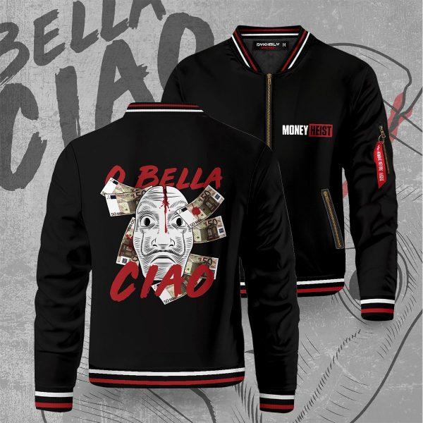 bella ciao bomber jacket 121941 - Anime Jacket
