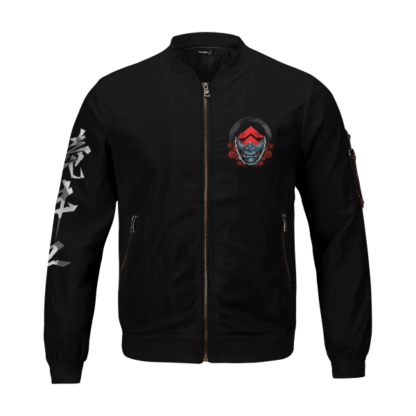 beware of the ghost bomber jacket 301306 - Anime Jacket