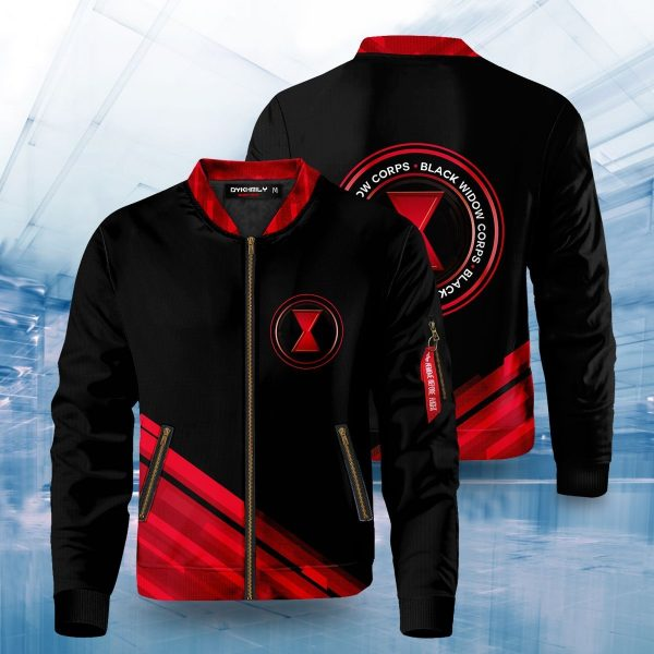 black widow corps bomber jacket 410177 - Anime Jacket