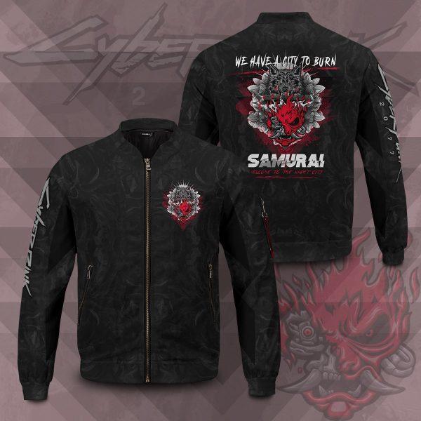 cyber samurai bomber jacket 265451 - Anime Jacket