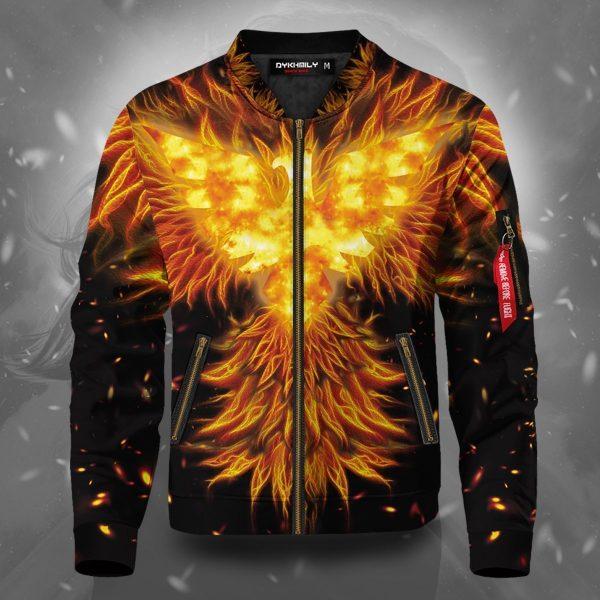 dark phoenix flame bomber jacket 825977 - Anime Jacket