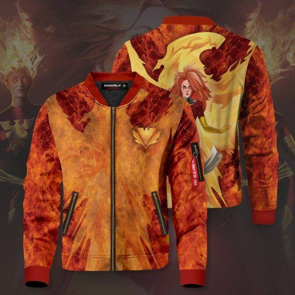 dark phoenix jean bomber jacket 647507 - Anime Jacket