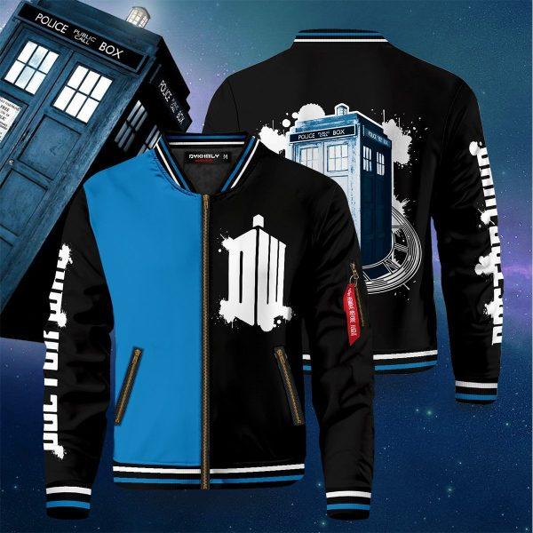 doctor who black blue bomber jacket 323664 - Anime Jacket