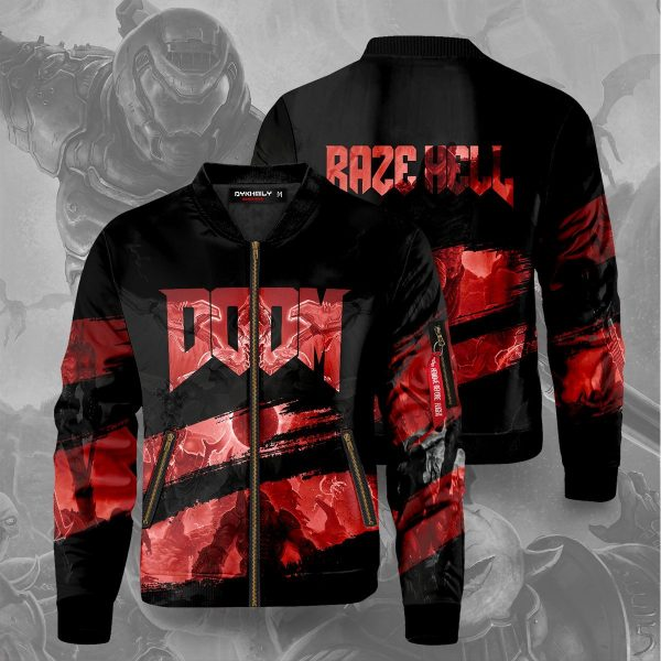 doom bomber jacket 297057 - Anime Jacket
