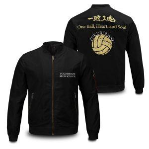 fukurodani rally bomber jacket 335051 - Anime Jacket
