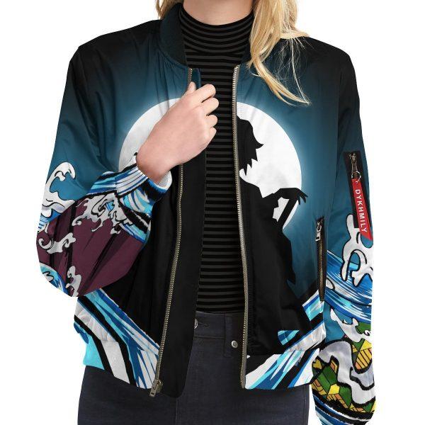 giyu water style bomber jacket 140399 - Anime Jacket