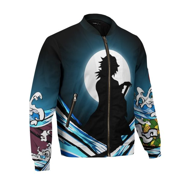 giyu water style bomber jacket 488509 - Anime Jacket