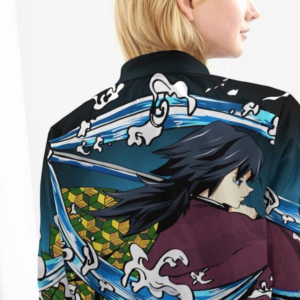 giyu water style bomber jacket 580134 - Anime Jacket