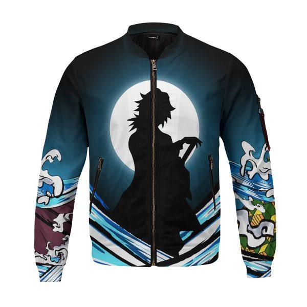giyu water style bomber jacket 583364 - Anime Jacket