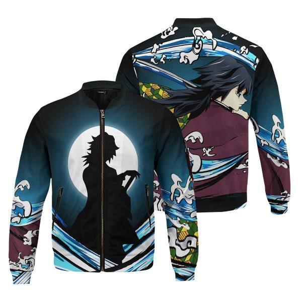 giyu water style bomber jacket 630351 - Anime Jacket