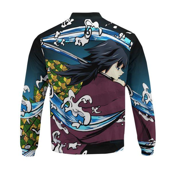giyu water style bomber jacket 677484 - Anime Jacket