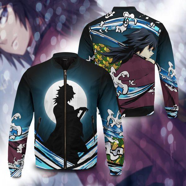 giyu water style bomber jacket 725651 - Anime Jacket