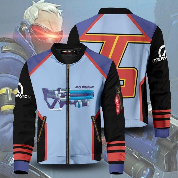 hero soldier 76 bomber jacket 837530 - Anime Jacket