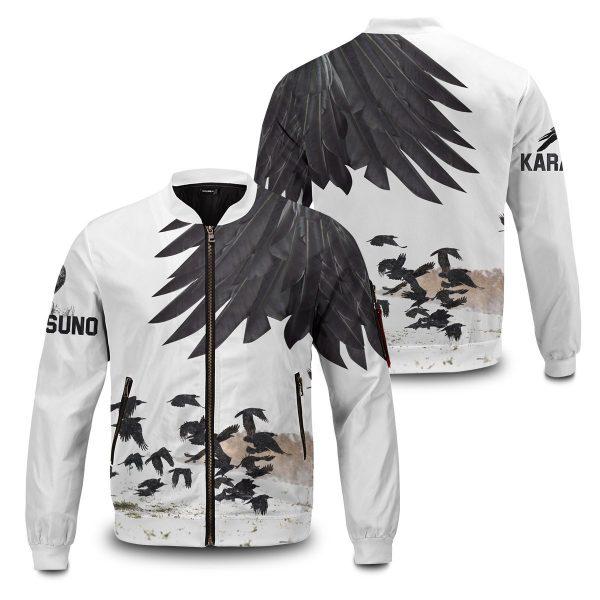 karasuno crows bomber jacket 289498 - Anime Jacket