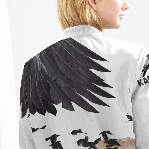 karasuno crows bomber jacket 358583 - Anime Jacket